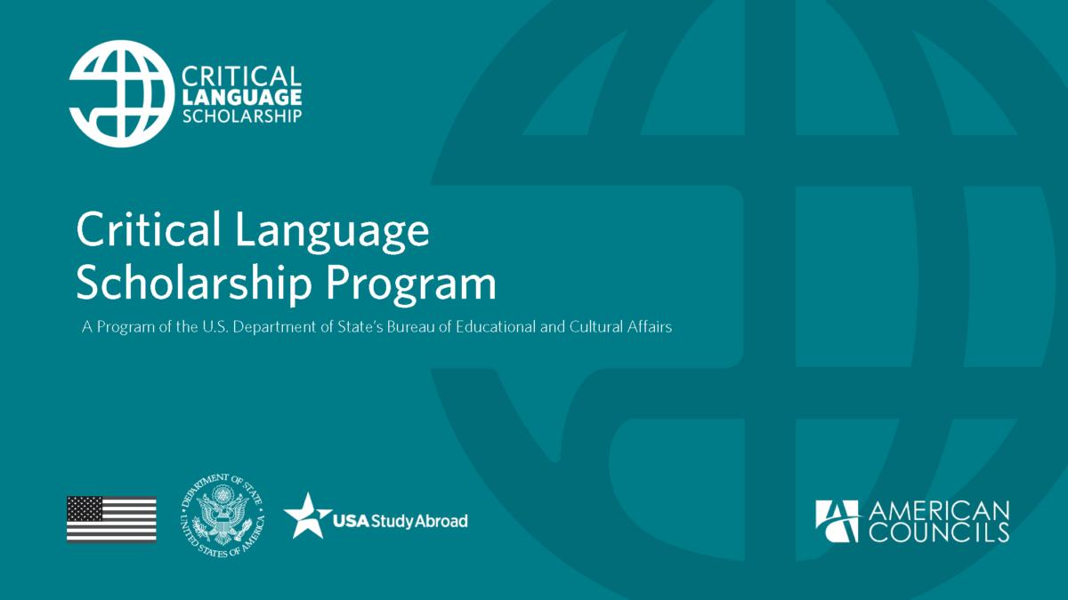 Critical Language Scholarship Program